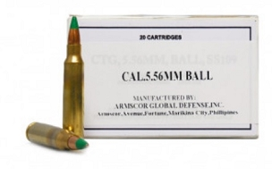ARMS855 - Armscor 5.56mm 62 GR SS109/M855 Green Tip (20 Rounds)