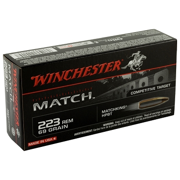 S223M2 - Winchester Sierra MatchKing 223 Remington 69 Grain Boat Tail Hollow Point (20 Rounds)