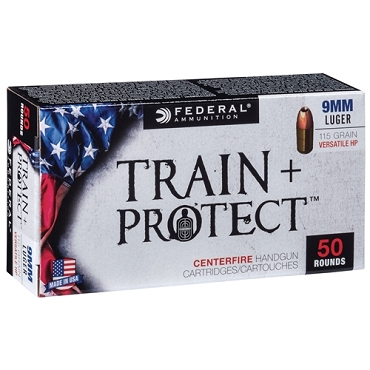 TP9VHP1 - Federal Train and Protect 9mm 115 Grain JHP (50 Rounds)