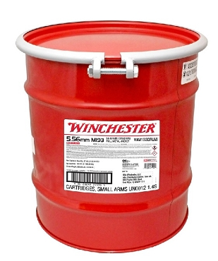 WM193DRUM - Winchester M193 5.56mm Lake City FMJ 55 Grain 14000 Rd Drum (14000 Rounds) - LTL Freight Included