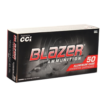 3597 - CCI Blazer 10mm AUTO Aluminum Case 200 Grain FMJ (50 Rounds)
