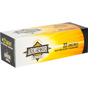 50015PH - Armscor Precision 22 LR 36 Grain High Velocity Hollow Point (500 Rounds)