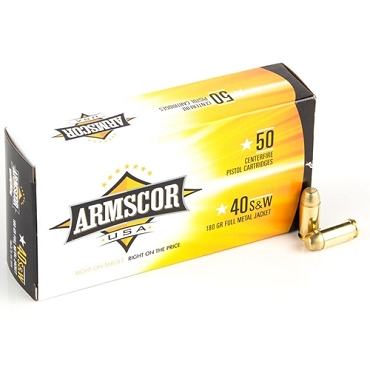 50434 - ARMSCOR .40S&W 180GR FMJ (50 ROUNDS)