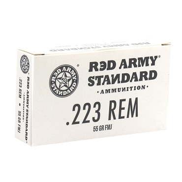 Red Army Standard 223 Remington 55 Grain FMJ Steel Case (1000 Rounds)