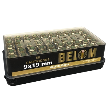 BELOM9A - Belom 9mm Luger 124 Grain FMJ (50 Rounds)