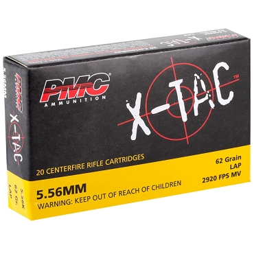 PMC556K - PMC X-Tac 5.56x45mm  62gr GREEN TIP LAP (20rds)