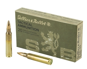SB665A - Sellier & Bellot .223/5.56 NATO Tactical Ammunition 20 Rounds 55 Grain M193 FMJ (20 Rounds)